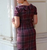 Siri Fitted Dress Plum