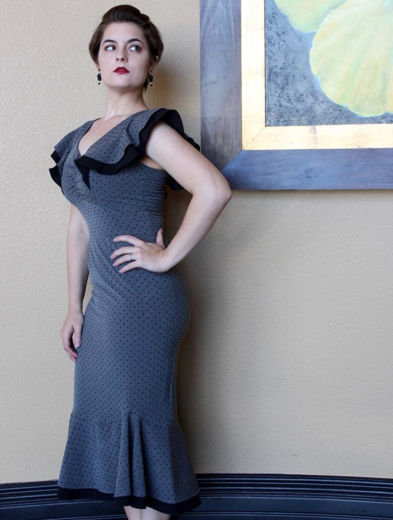 Matador Fitted Dress Grey