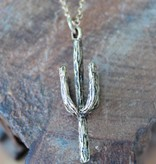 Desert Cactus Gold Necklace