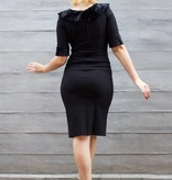 BLOND12 Fitted Black Dress