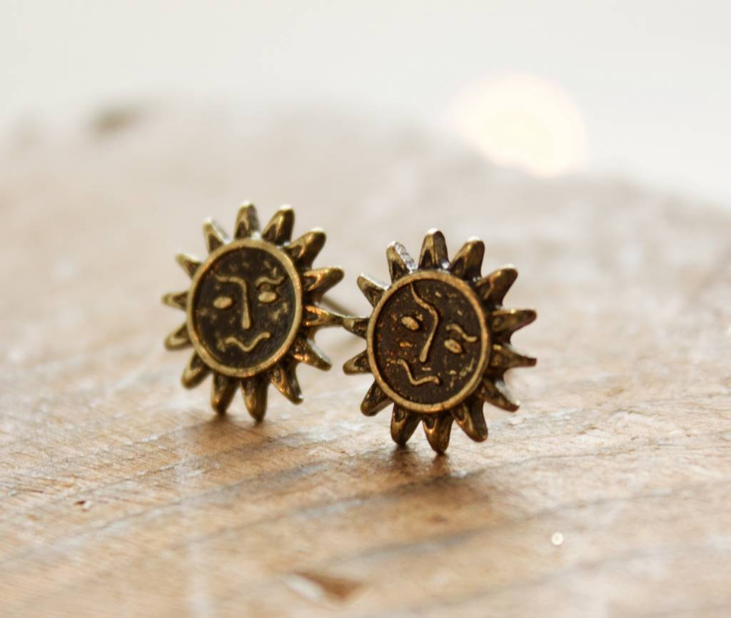 Boho Sun Earrings Gold