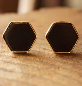 Stone Hexagon Black