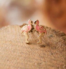Happy Flamingo Studs