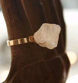 Crystal Quartz Rock On Ring