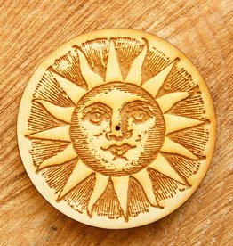 Woodcut Sun Incense Burner