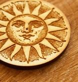 Woodcut Sun Incense Burner