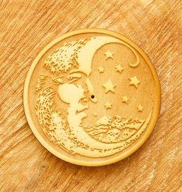 Woodcut Moon Incense Burner