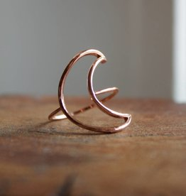 Crescent Copper Ring