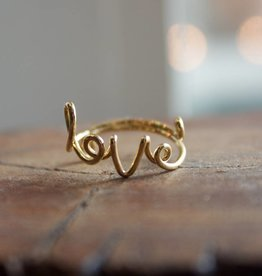 Cursive Love Ring