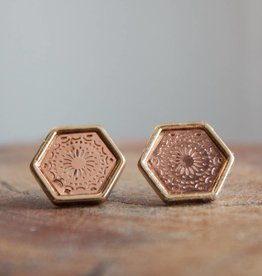 Filagree Hex Rose Gold