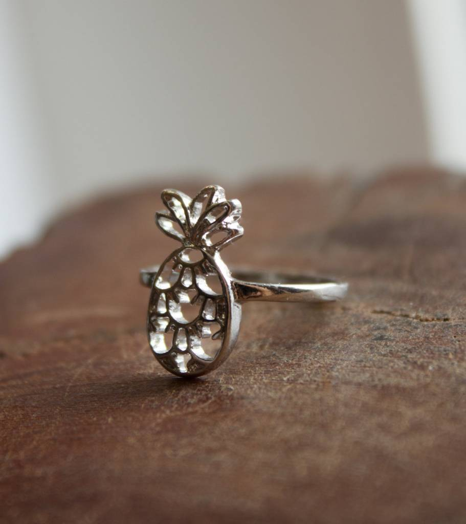 Silver Pineapple Ring