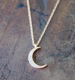 Waning Crescent Rose Gold