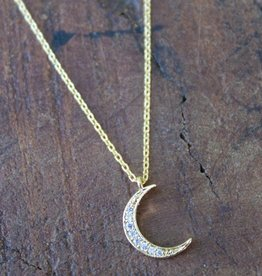 Waning Crescent Moon Gold
