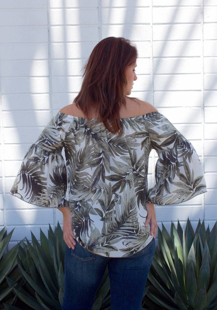 Zoe Ruffle Tropical Grey