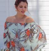 Zoe Ruffle Tropical Mint