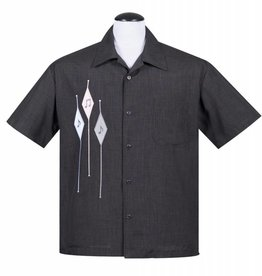 Diamond Note Shirt Charcoal