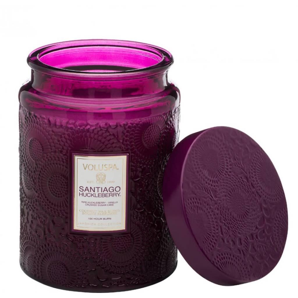 Santiago Huckleberry Large Jar Candle