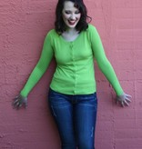 Trudy Classic Cardigan Lime Green