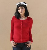 Trudy Classic Cardigan Red