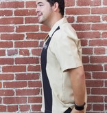 Simple Times Button Up-Tan