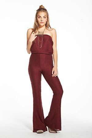 Chaser Strapless Lace Jumpsuit