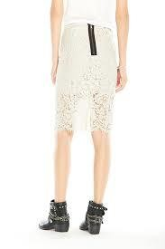 Chaser Vintage Lace Pencil Skirt