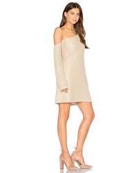 MinkPink Waffle Shoulder Dress