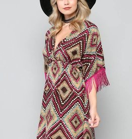 By Together Fringe Sleeve Dress