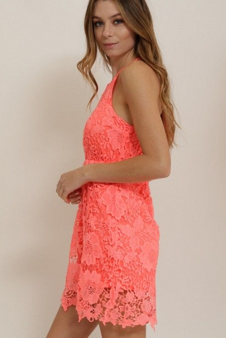 1 Funky Lace Halter Dress