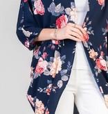Golden Spirit Flower Print Kimono