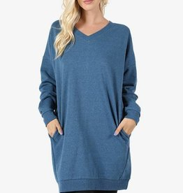 Zenana Perfect Sweatshirt Dress