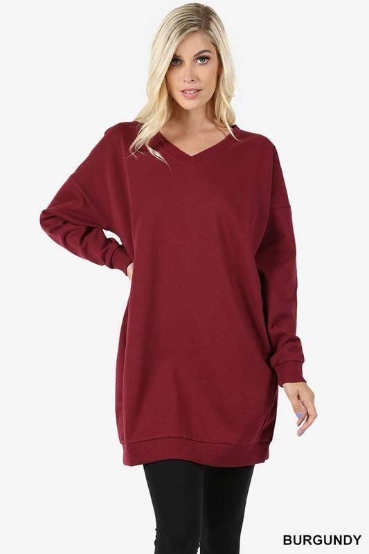 Zenana Perfect Sweatshirt Dress