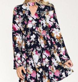 Listicle Floral Choker Dress