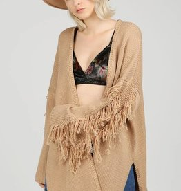 Pol Clothing Fringe Cardigan Sweater