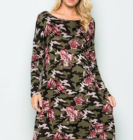 Sweet Pea Camo Floral Dress