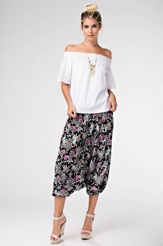 Floral Harem Pants