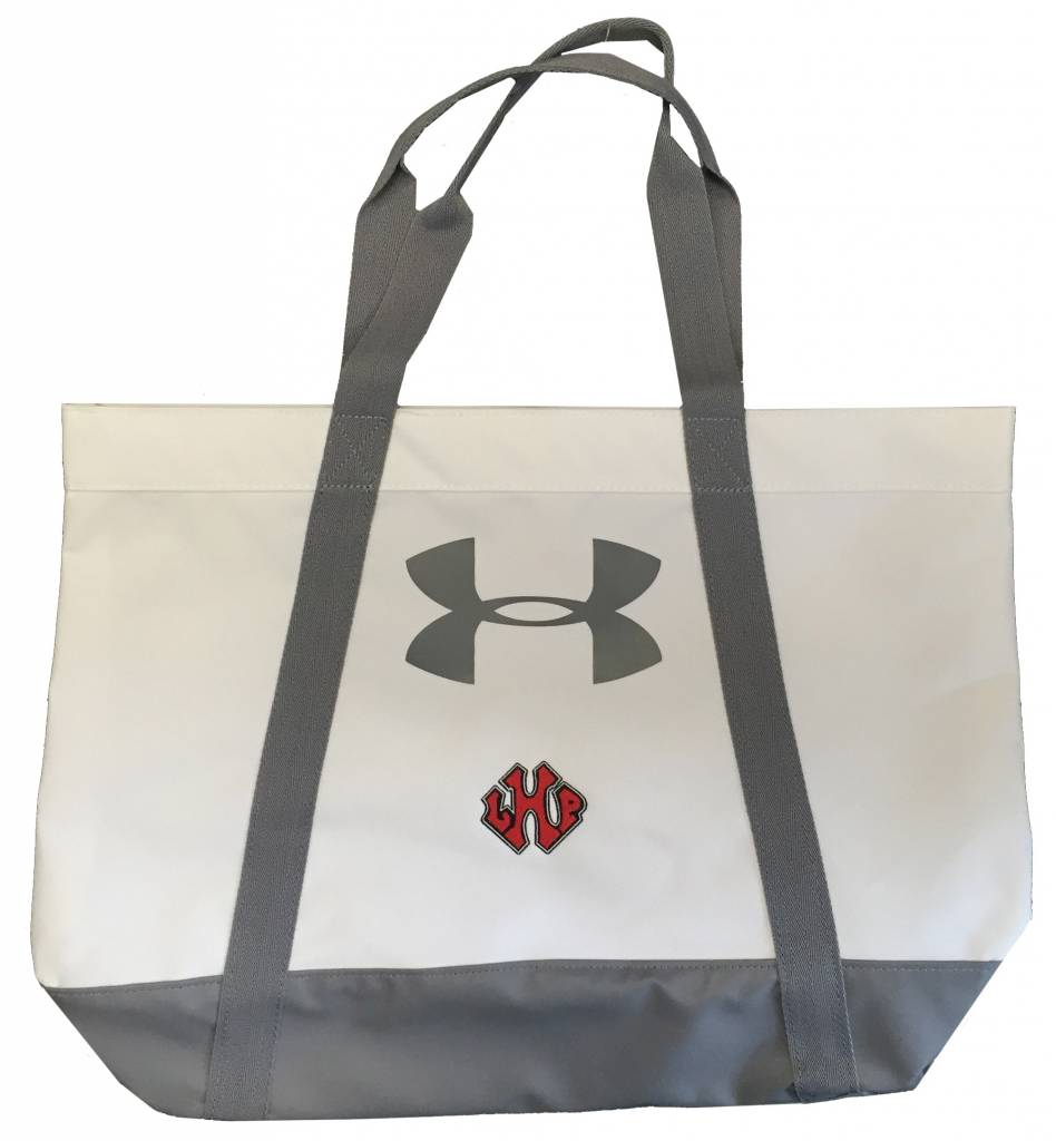 Under Armour UA Canvas Tote LHP Logo, White, 16
