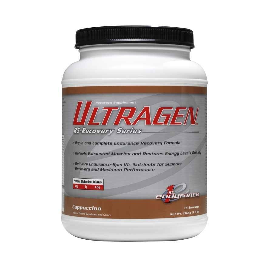 1st Endurance, Ultragen, 1.36kg, Drink Mix, Cappuccino, 15 servings