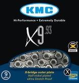 """KMC, X9.93 9sp NP/Dark Silver 116L 11/128"""""""