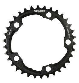 Eclypse, Glide-Pro 110, 50T, 8-10sp, BCD: 110mm, 5 Bolt Outer Chainring, Alloy, Black