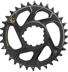 SRAM X-Sync 2 Eagle Chainring 32T Direct Mount 6mm Offset Black with Gold Logo BB30 or GXP