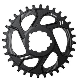 Sram, 11.6218.018.002, 34T, 11sp, Direct, X-Sync DM, Middle Chainring, Offset 6 mm, Aluminium, Black