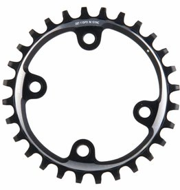 Sram, 28T, 11 sp, BCD 76mm, 4-Bolt, XX1, Outer Chainring, For X-Sync, Aluminum, Black, 11.6218.004.000
