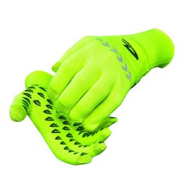 DeFeet Duraglove ET Glove: Hi-Vis Yellow with Reflector MD