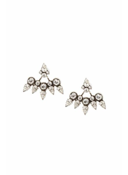 DANNIJO Clear Crystal/Ox Silver Earrings