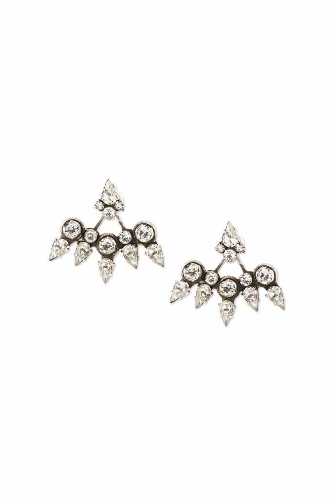 DANNIJO Clear Crystal/Ox Silver Earrings