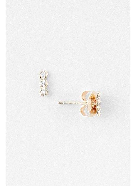 GINETTE NY Diamond Strip Studs  18K Rose Gold