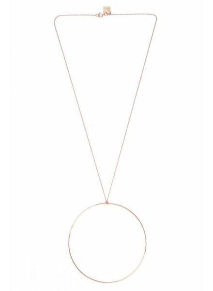 GINETTE NY Jumbo Circle on Chain 18K Rose Gold