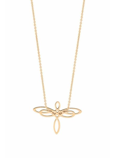 GINETTE NY Mini Dragonfly on Chain 18K Rose Gold