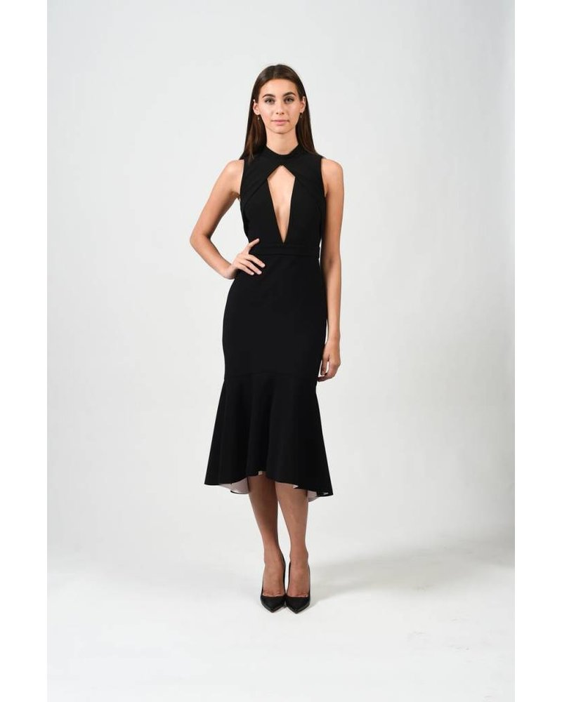 REBECCA VALLANCE GOLDIE DEEP V DRESS